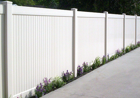 White Vinyl Privacy_Hayward _CA